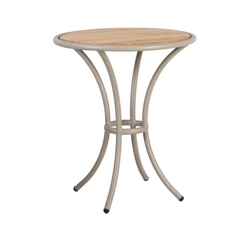 Alexander Rose Cordial Beige Bistro Table Roble Top