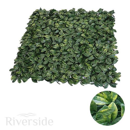 WonderWal Artificial Hedge Screening - Laurel Leaf, 100cm x 100cm