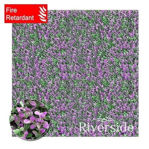 WonderWal Artificial Hedge Screening - Purple Buxus (Flame Retardant) 100x100cm