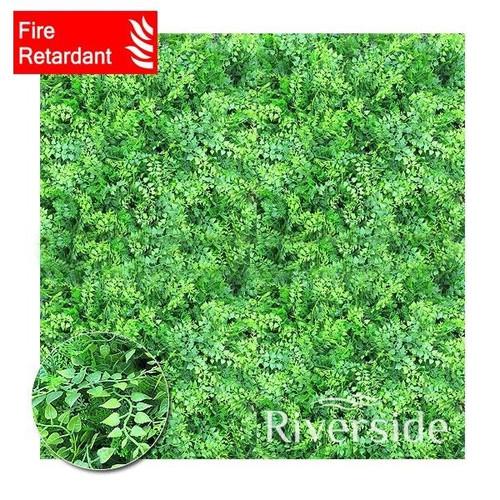 WonderWal Artificial Hedge Screening - Mixed Fern (Flame Retardant) 100x100cm