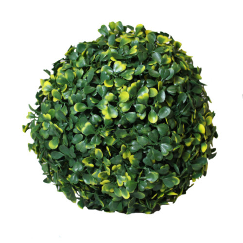 Artificial Topiary Large Variegated Leaf Ball, 38cm