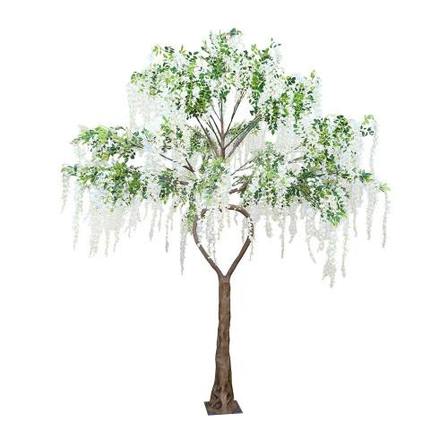 Artificial White Wisteria Love Heart Tree, 3.5M (11.5ft)