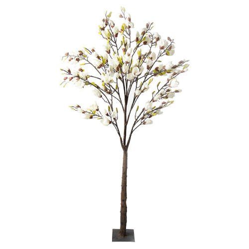Artificial White Magnolia Tree With Leaf, 3.5M (11.5ft)