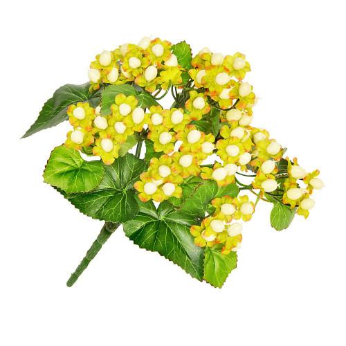Artificial Flower Bouquet - 34cm Hypericum Bush, Cream