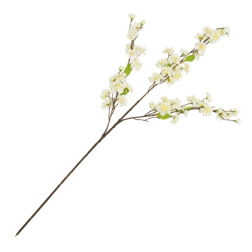Artificial Cherry Blossom Branch 94cm, Cream