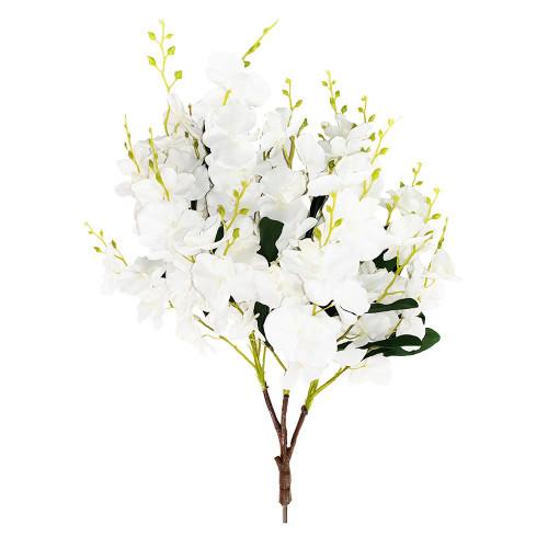 Artificial Cream Orchid Blossom Branch 85cm