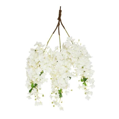 Artificial Hydrangea Blossom Branch 85cm, Cream