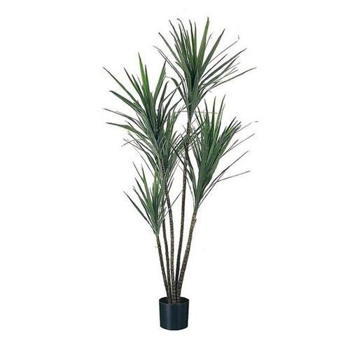 Artificial Dracena Marginata Tree 110cm (2ft), Green & Red