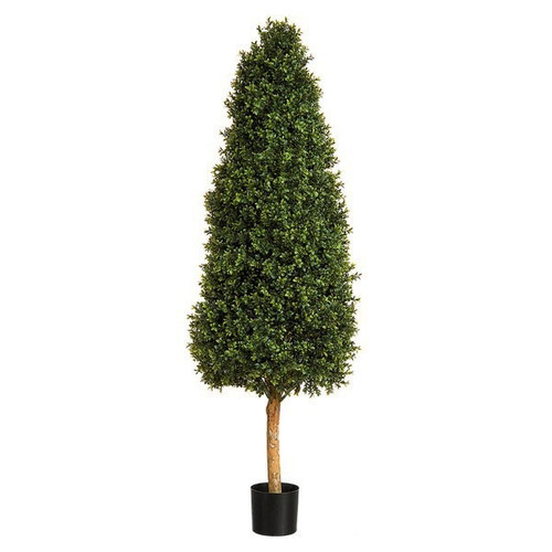 Artificial Topiary Tree - Boxwood Tower, 94cm (2.5ft)