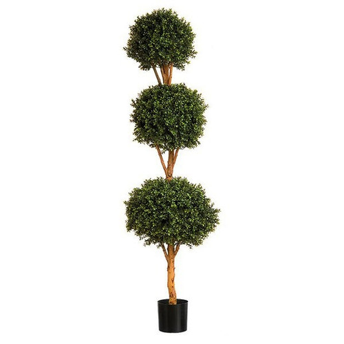Artificial Topiary - Boxwood Triple Ball Tree, 135cm (4ft)