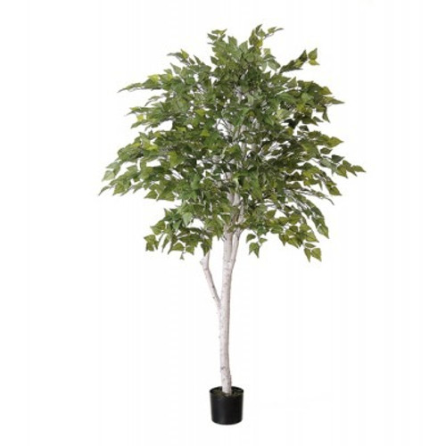 Artificial Birch Tree with White Trunk (7 foot)