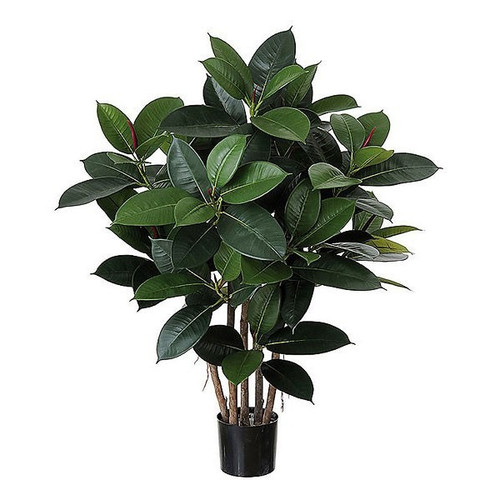 Artificial Rubber Tree 87cm (2.8ft), Green