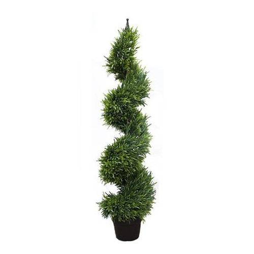 Artificial Topiary - Sea Grass Tree On Metal Spike, 120cm (4ft)