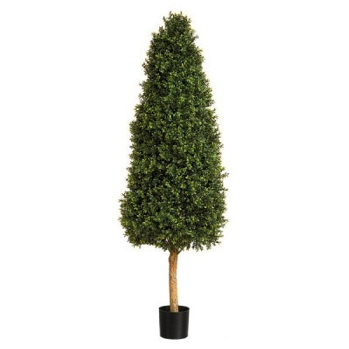 Artificial Topiary Tree - Boxwood Tower, 152cm (5ft)