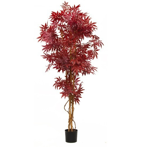 Artificial 5ft Japanese Maple Tree (Burgundy)