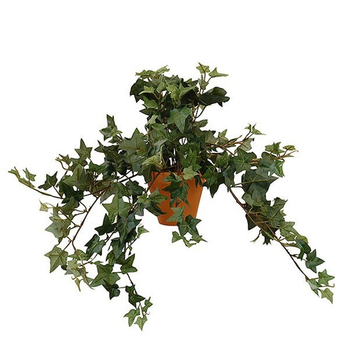 Artificial Small Ivy Bush Potted, Green