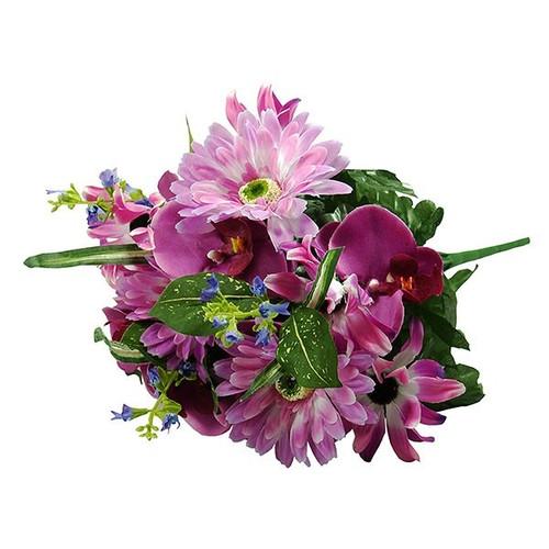 Bouquet - Gerbera / Orchid Bush, Purple