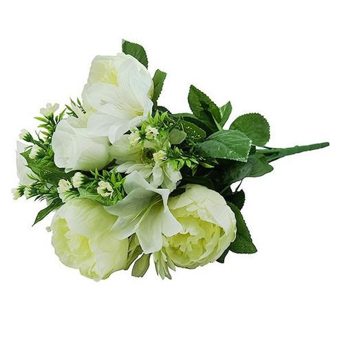 Bouquet - Gerbera / Peony / Lily Bush, Cream