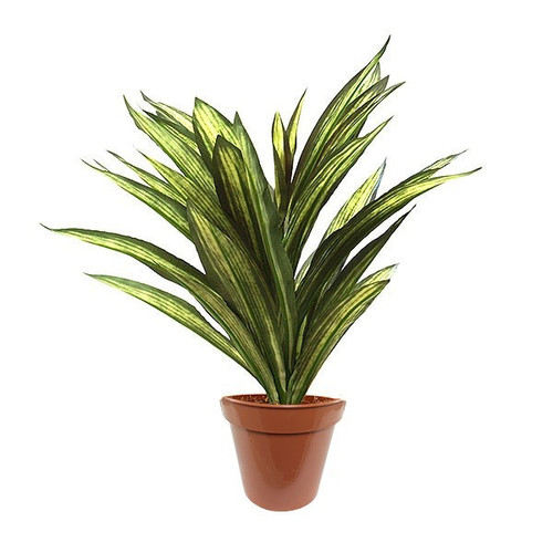 Artificial Large Foliage Bush Potted, Green And Yellow