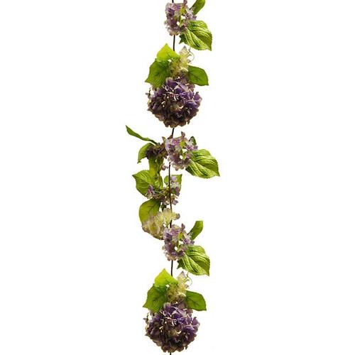 Artificial Garland - Hydrangea 180cm, Lavender