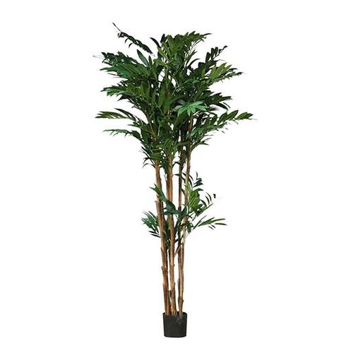 Artificial Parlour Palm Tree 204cm, Dark Green