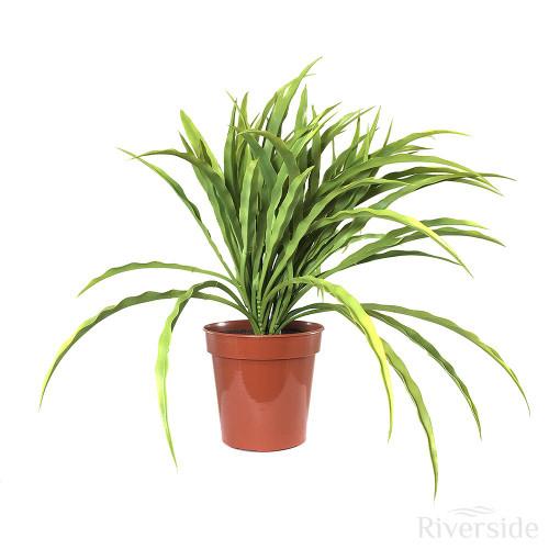 Artificial Potted Grass Bush, Light Green