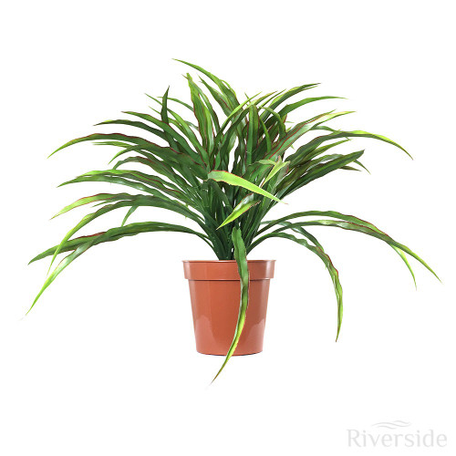 Artificial Potted Grass Bush, Red And Green