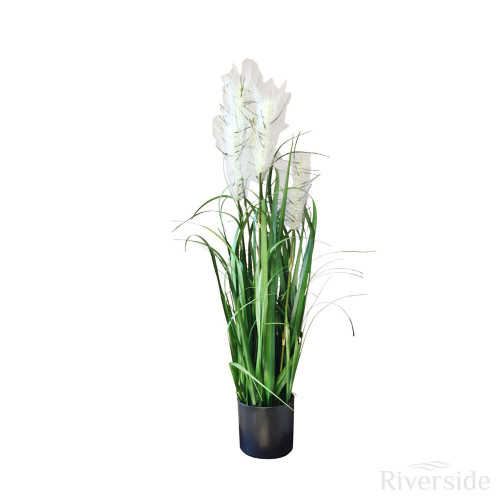 Artificial Potted Onion Grass, 76cm (30in)