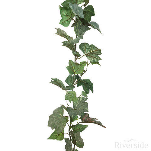 Artificial Garland - Frosted English Ivy 180cm, Green
