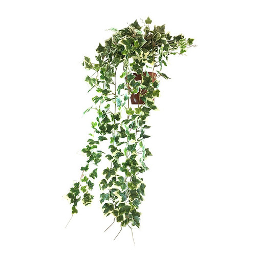 Artificial Trailing Bush Potted, Variegated, 60cm