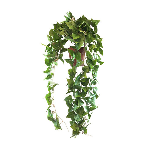 Artificial Trailing Bush Potted, Green, 60cm