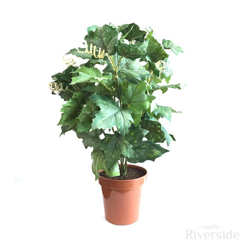 Artificial Potted Maple Ivy Bush, Green