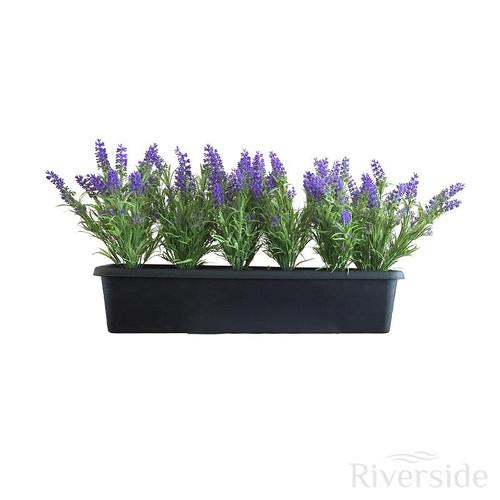 Artificial Lavender Patio Planter, 59x17cm