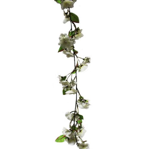 Artificial 6ft Blossom Garland Cream