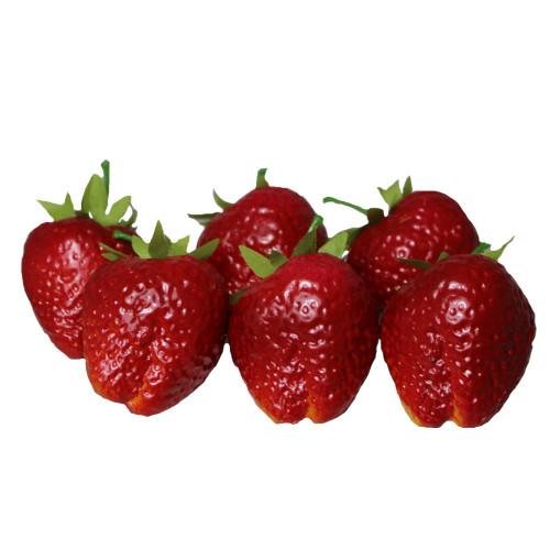 Artificial Fruit, Strawberries x 6