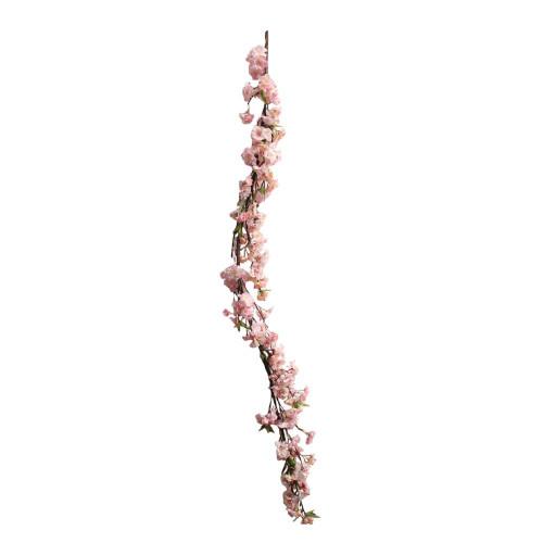 "Artificial Blossom Garland 60"" Pink"