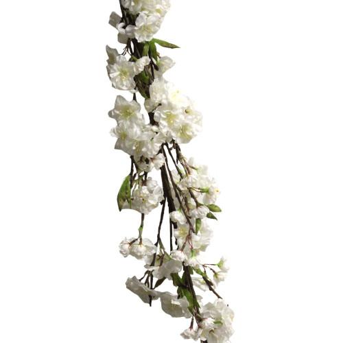 """Artificial Blossom Garland 60"""" Cream"""