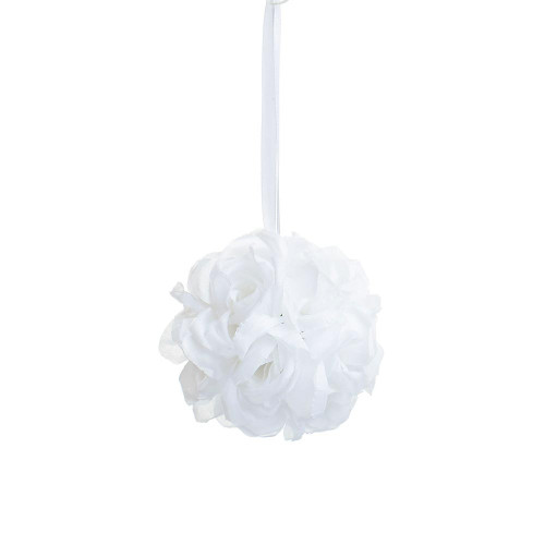 """Artificial Small Rose Ball Hanger (5""""), Cream"""