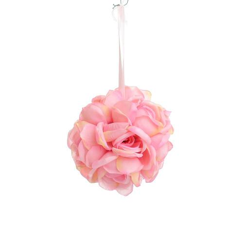 """Artificial Medium Rose Ball Hanger (5""""), Pink"""