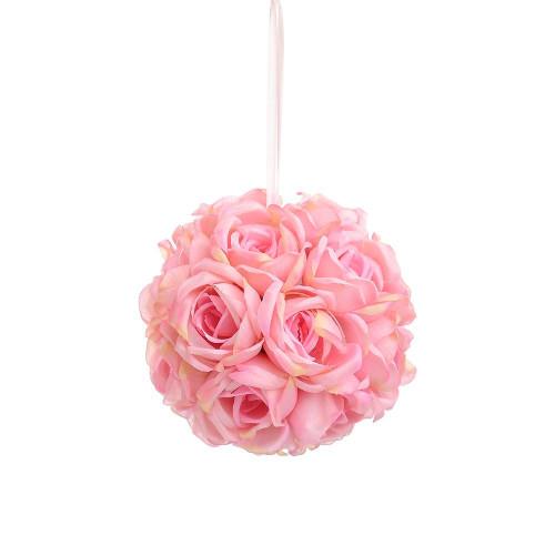 """Artificial Medium Rose Ball Hanger (7""""), Pink"""