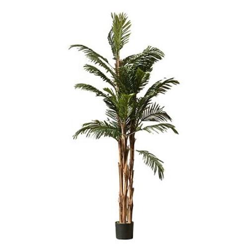 Artificial Kenya Palm Tree 214cm (7ft), Green