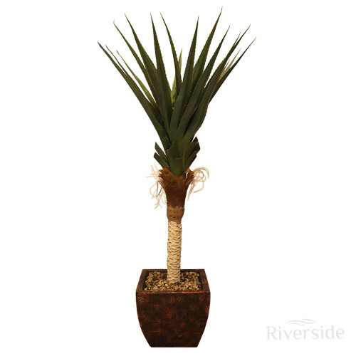 Artificial Spiked Agave Tree with Planter, 130cm (4ft)