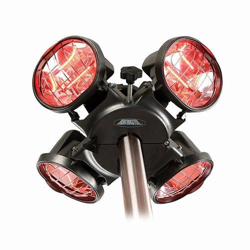 Heatmaster 1800W Umbrella Mount Infrared Patio Heater - Black
