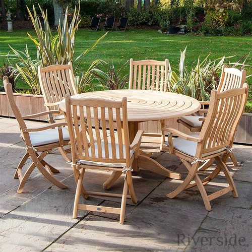 Alexander Rose Roble 6 Seater Set 145cm, Oatmeal