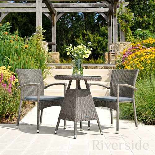 Alexander Rose Monte Carlo Rattan Bistro Set With Cushions