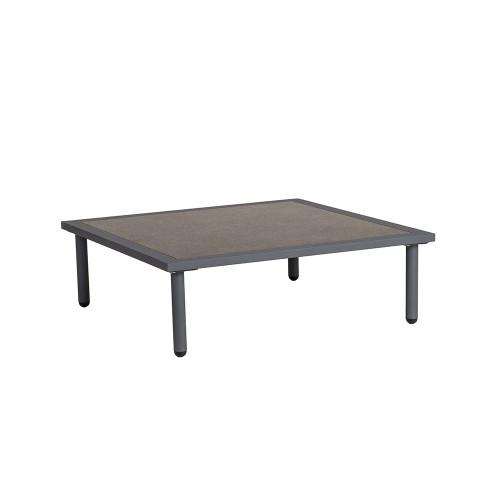 Alexander Rose Beach Flint Side Table With Pebble HPL Top 0.7m x 0.7m