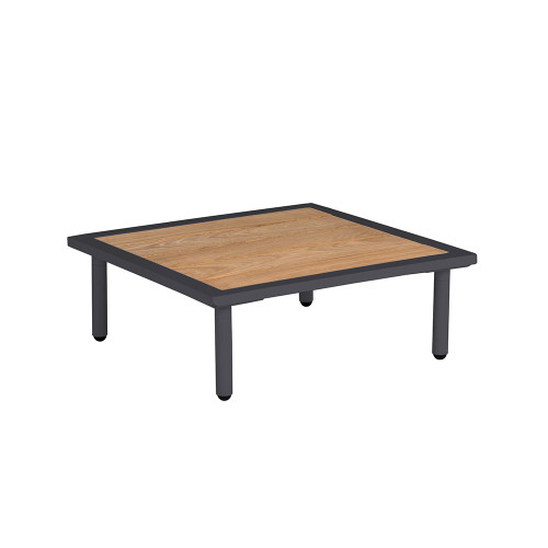 Alexander Rose Beach Flint Side Table With Roble Top 0.7m x 0.7m