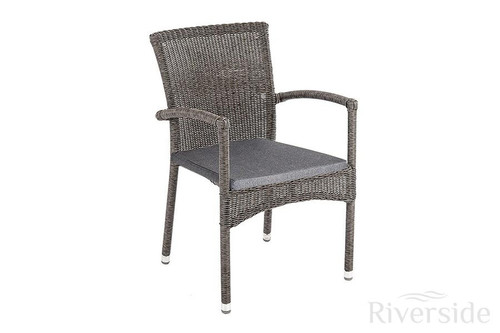 Alexander Rose Monte Carlo Olefin Stacking Armchair (sold seperately) With Cushion