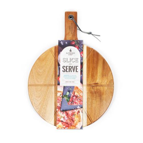The Alfresco Chef Acacia Slice and Serve Board