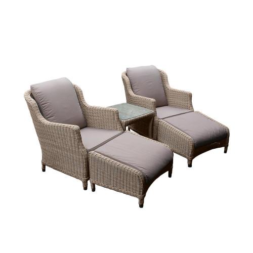 4 Seasons Outdoor - Brighton 5 Piece Luxury Rattan Lounge Set, Praia
